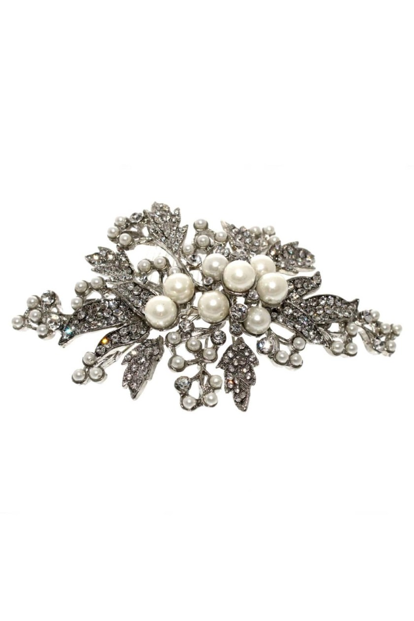 lp704 bintage rhudium silver hair comb for brides