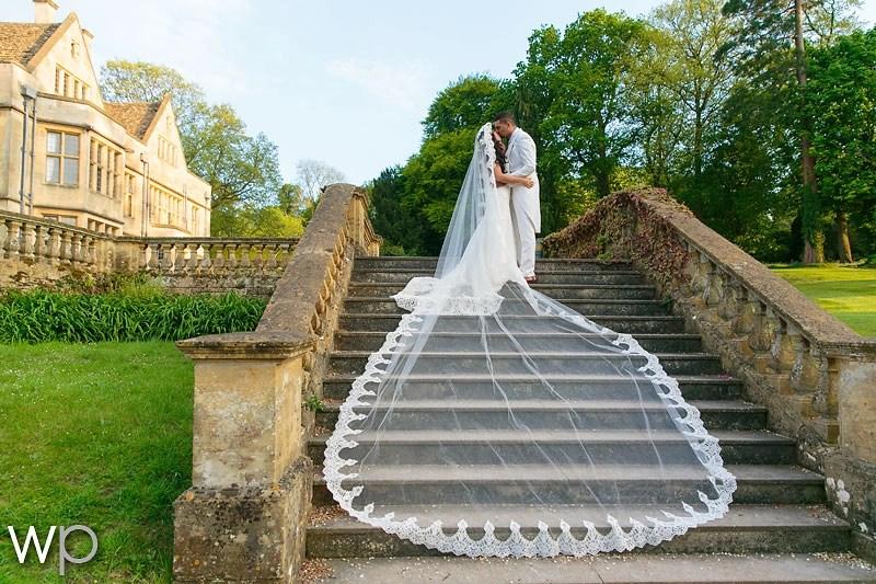 5 metre long wide lace mantilla veil