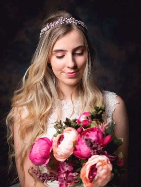 Aurora – Boho bridal hair vine with crystals & diamantes