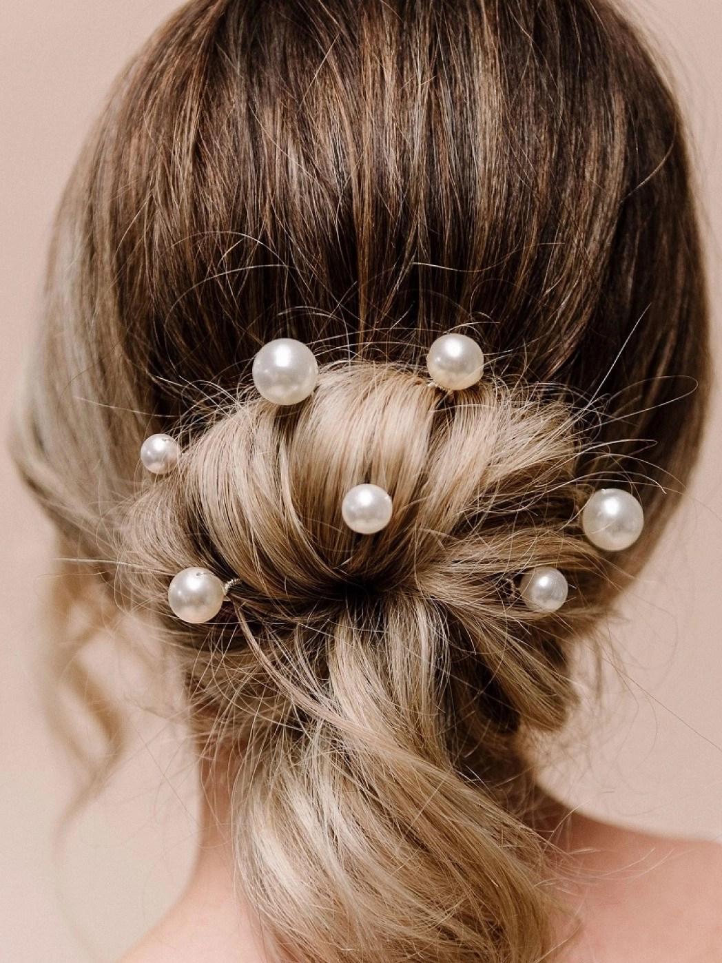 arianna purity set of 7 pearl wedding hair pins arp617