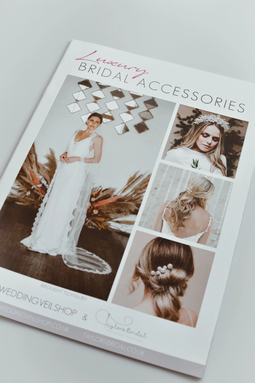 Brochure about wedding veils and accessories
