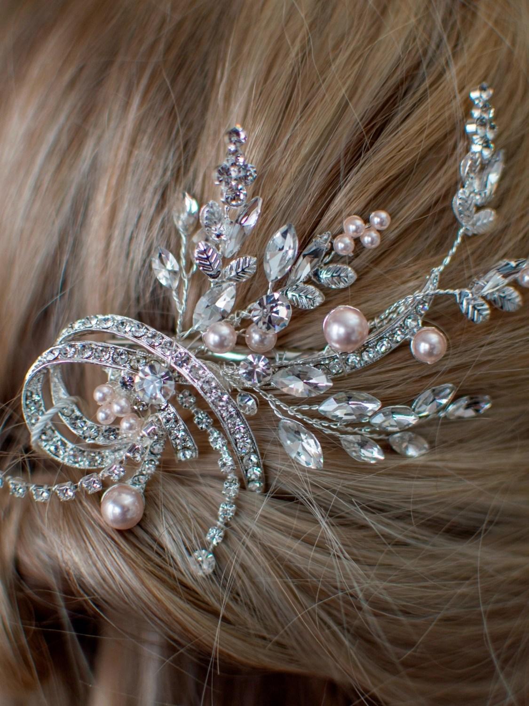 LP740 pearl and diamante bridal hair accessory