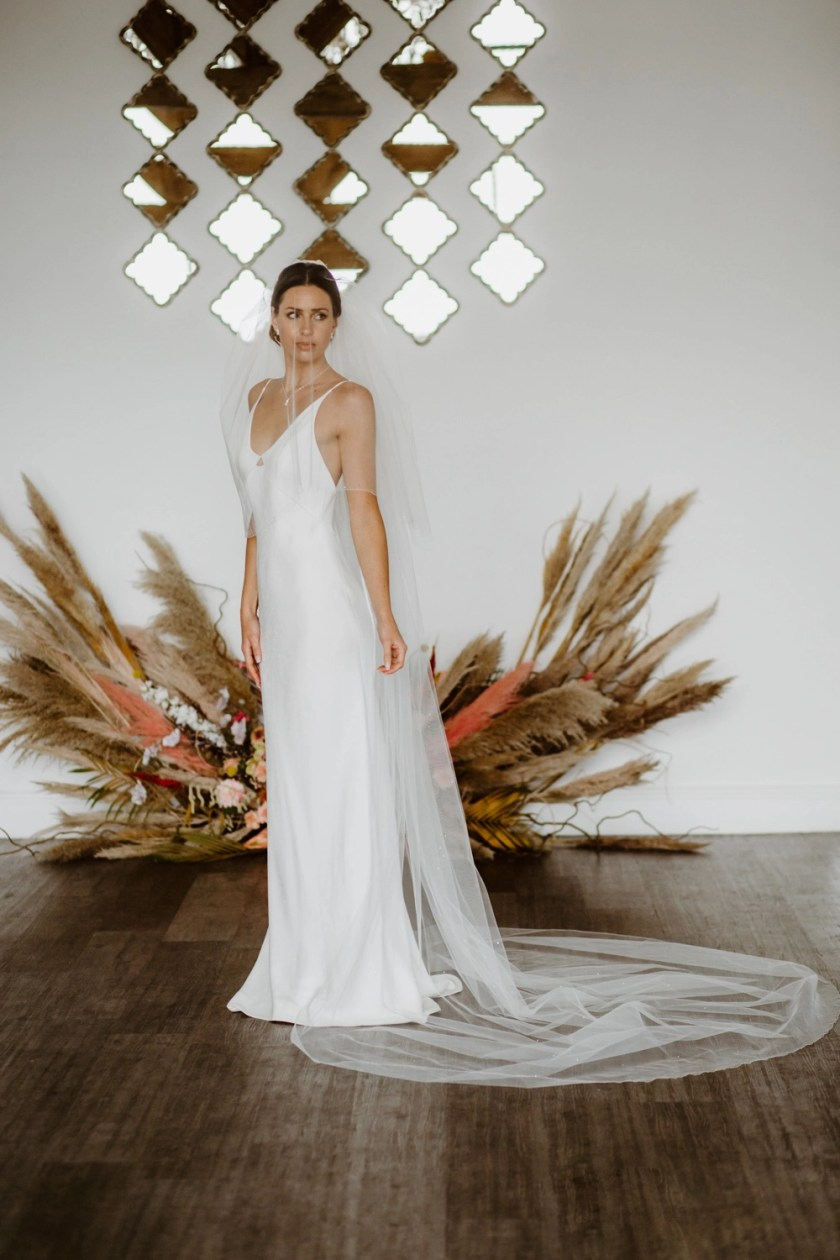 Lottie - two layer cathedral length veil with scattered diamantes