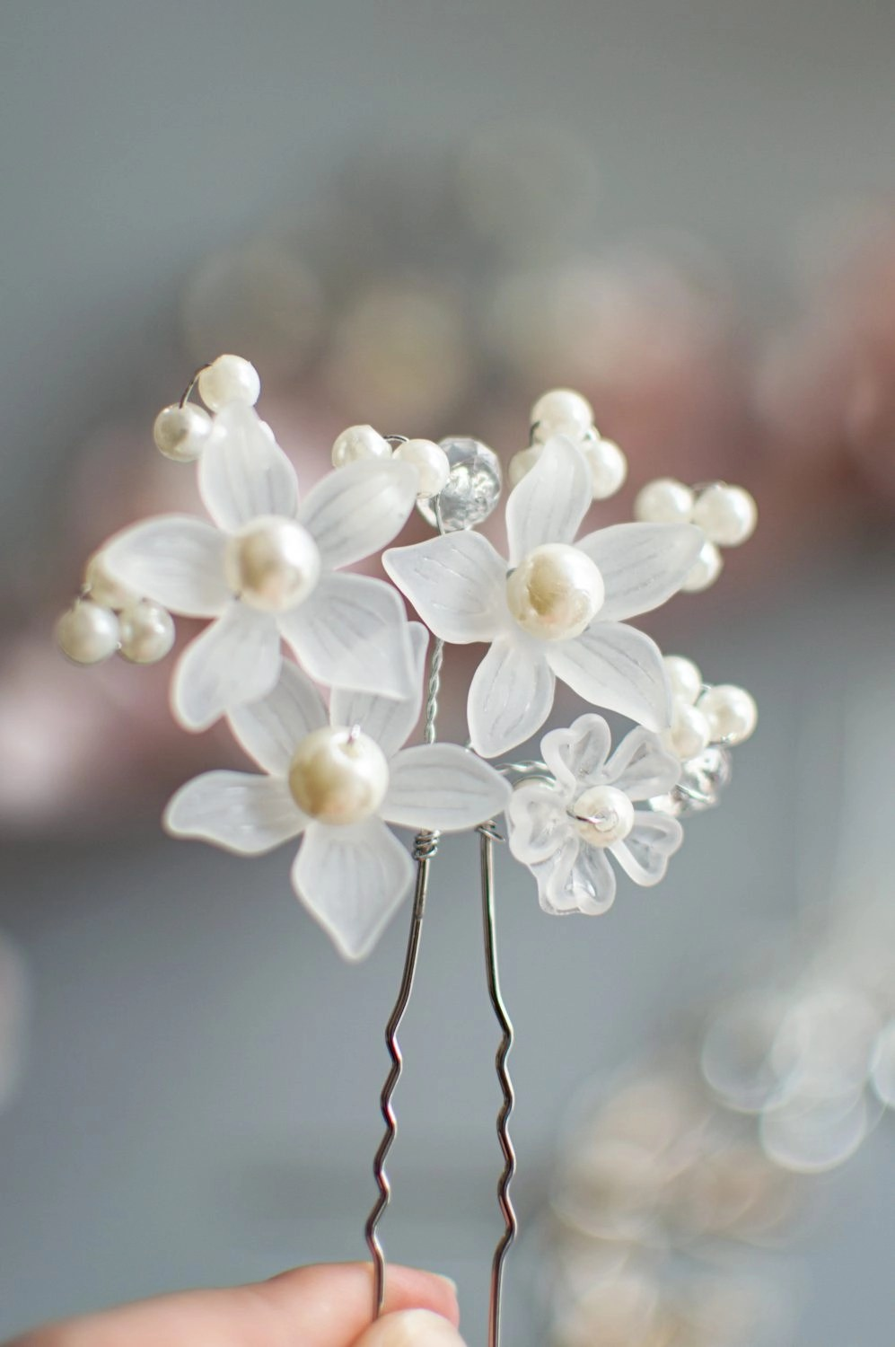 HP4469 flower hair pin