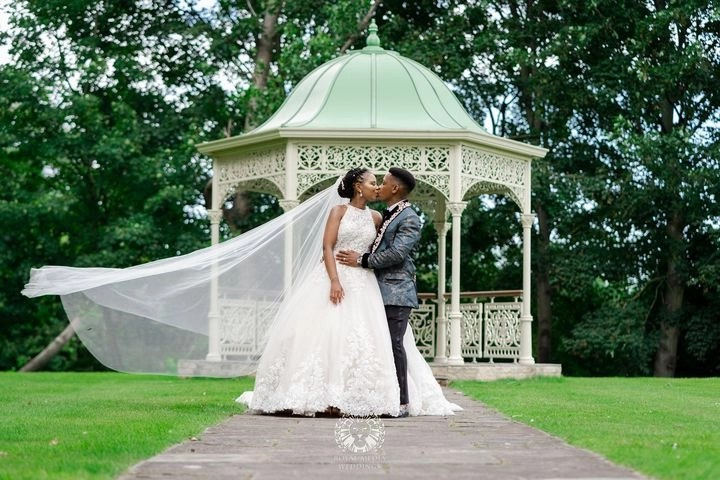 Tasha - cathedral wedding veil Caitlyn - lockdown wedding - real bride 2020