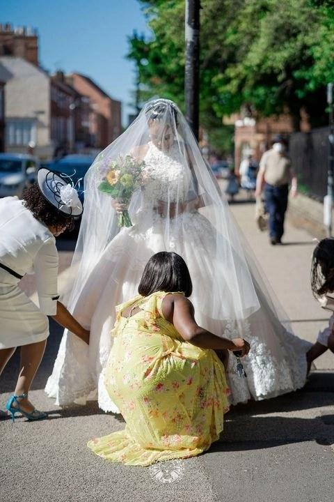 Custom cathedral veil Caitlyn - lockdown wedding - real bride 2020 4