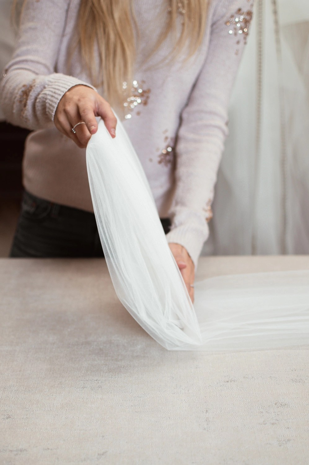 how to refold and package your veil