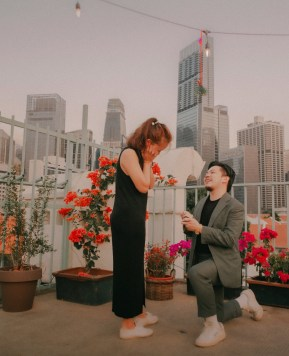 Christopher's Rooftop Marriage Proposal to Xinning