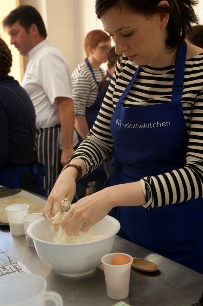 Making scones with super concentration