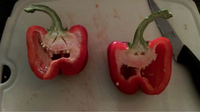 Cheering up my evening cook with these wee guys.