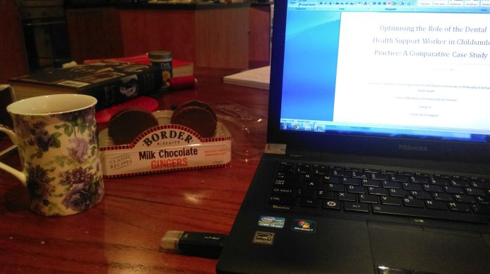 Twinnings & Border Biscuits = the ultimate thesis writing combo