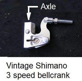 Vintage Shimano 3-speed bellcrank