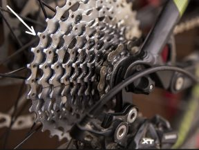 Largest rear cog, or sprocket