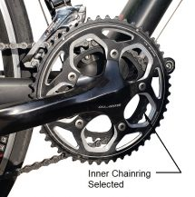 Inner chainring selected