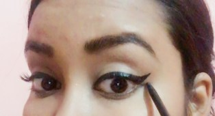 Use a pencil to draw a little wing just below your upper wing