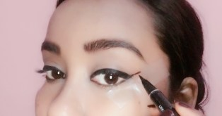 Draw a line like so & then join it with the previously applied eyeliner.