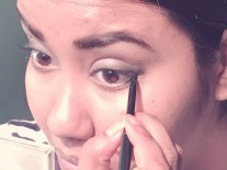 line the lower lashline too with the same penci liner