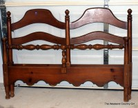 turning a headboard into a bench | The Weekend Country Girl