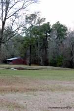 barn and pond