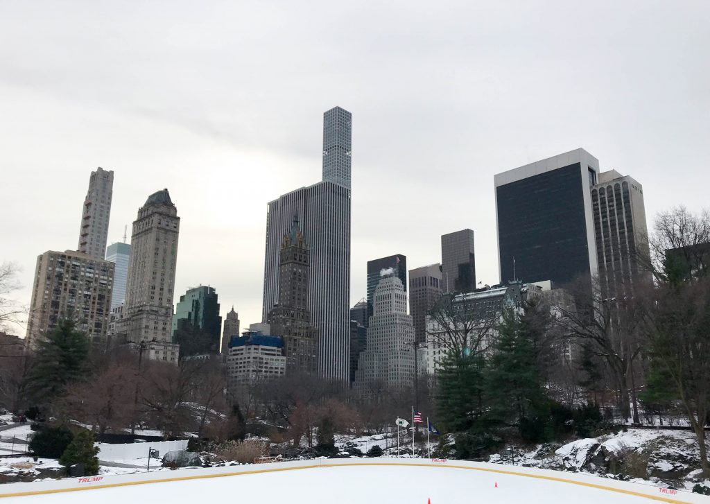 NYC, Wollman Park, ice skating, holidays