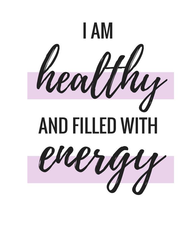 Daily Affirmations, I am healthy and filled with energy, daily quotes, quotes to live by, motivational quotes