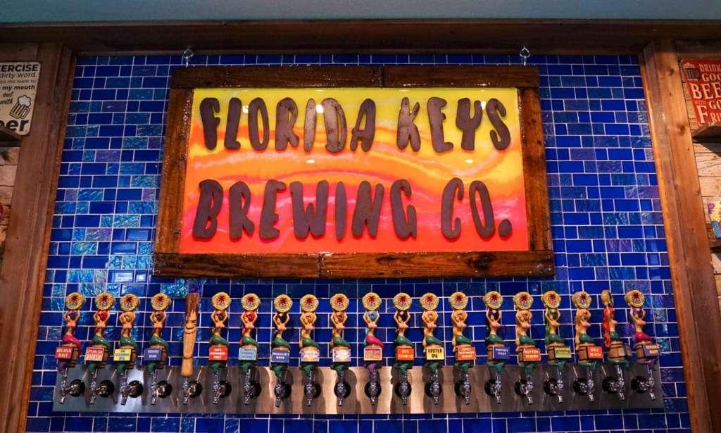 taps at Florida Keys Brewing Company, things to do in Islamorada #travelblog #floridakeys #brewery