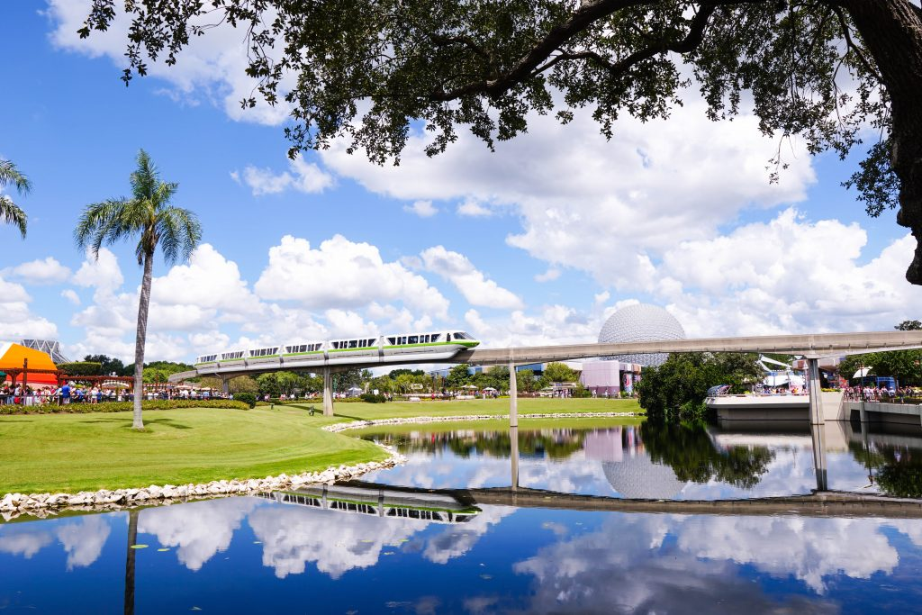 Epcot Monorail at Disney World