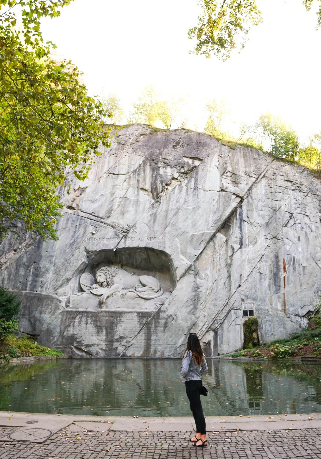 Lion of Lucerne, Lion Monument, Lucerne Swizterland, things to do in Lucerne