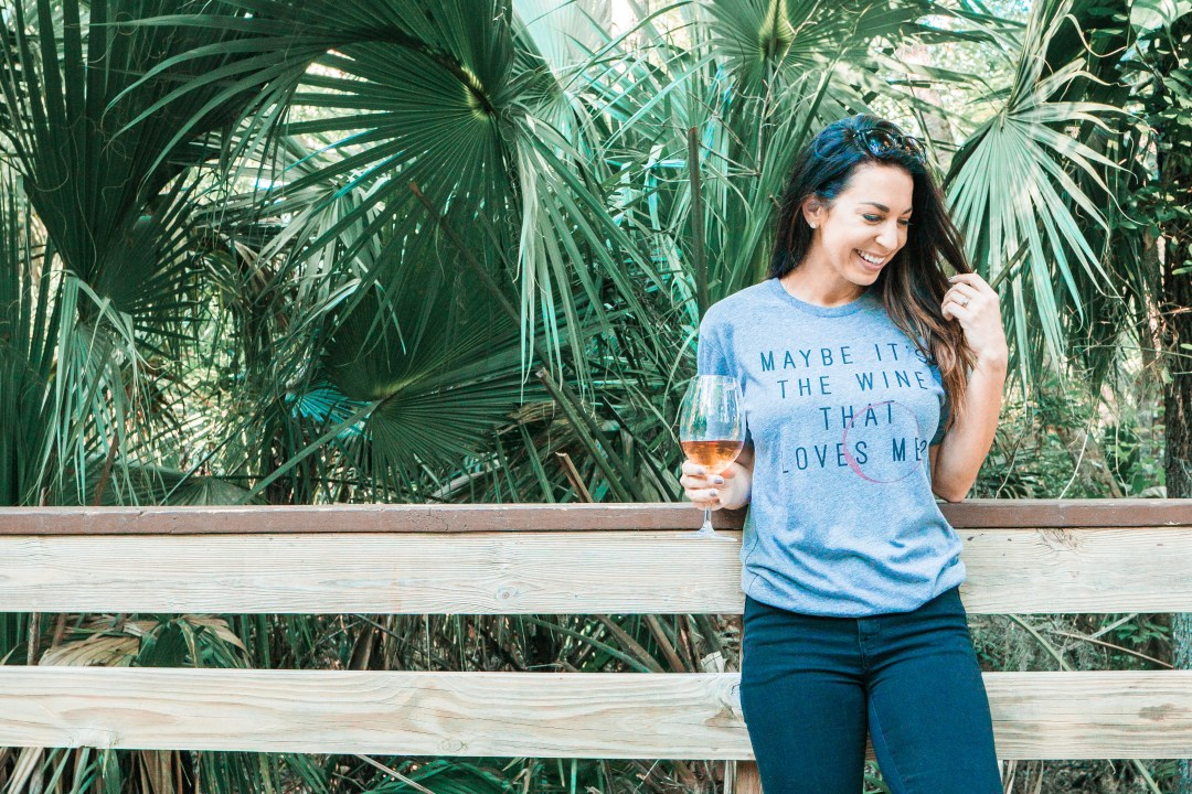 Maybe it's the wine that loves me - James Mae T-Shirt // Wine Not Weekend Chat