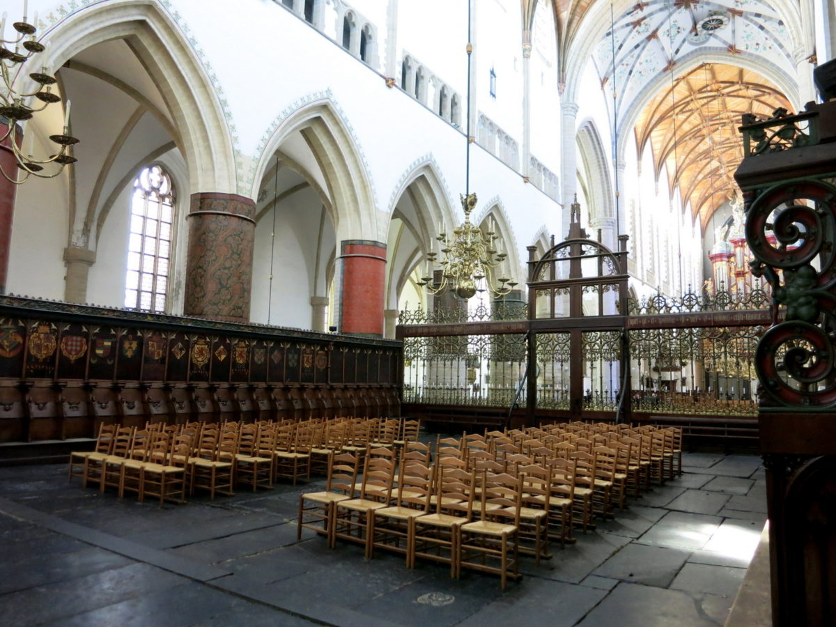 Best things to do in Haarlem :: Also known as the Grote Kerk, Sint Bavo Church sits on Haarlem's central square. For a small fee you can visit the church and see the famous organ that was played by Händel and Mozart. Be sure to look out for the bats that live in the church, it is a treat to see them flying overhead.