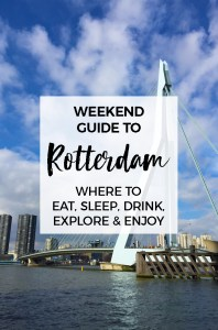 Weekend Guide to Rotterdam :: Rotterdam is an awesome city with tons of fun things to do and places to explore.