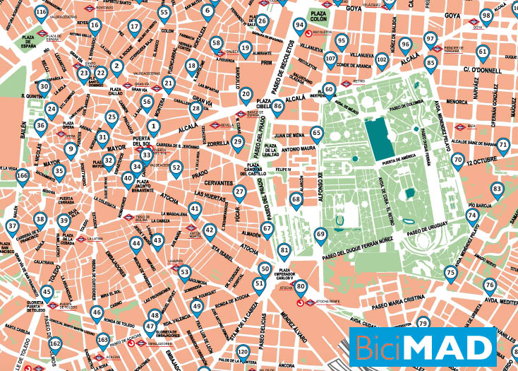BiciMAD Map - Awesome things to do in Madrid