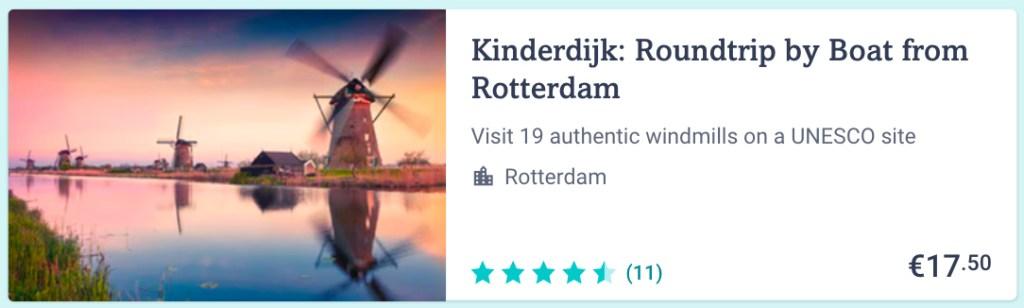 Day trip from Rotterdam to Kinderdijk
