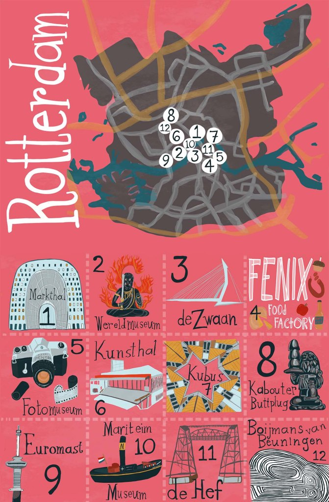 Fun Things To Do in Rotterdam - What To See in Rotterdam :: Fun things to do in Rotterdam map by shoshannah hausmann