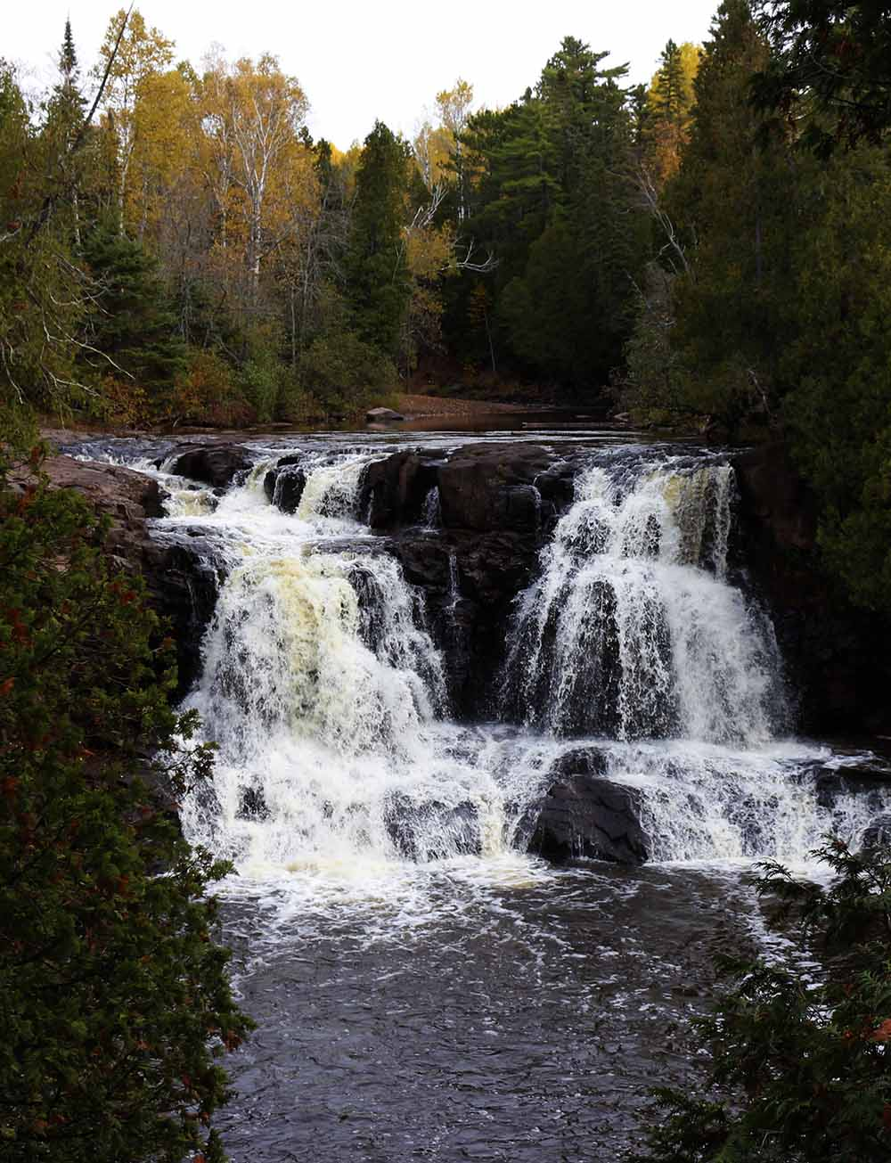 Minnesota waterfalls - Gooseberry Falls - Here is a guide to 10 waterfalls you should be sure to see when visiting the North Shore of Lake Superior in Minnesota