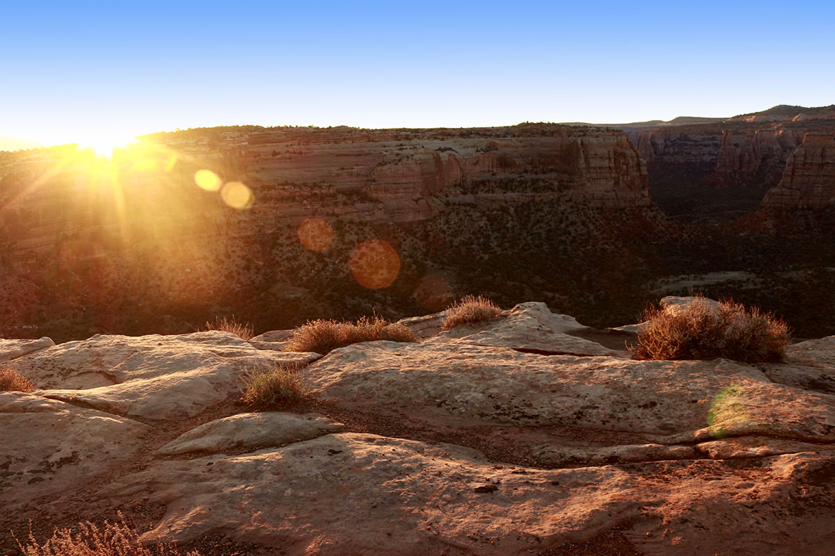 Colorado National Monument is a beautiful park located close to Colorado's border with Utah. You'll find red rock monuments and canyons, hiking and camping.