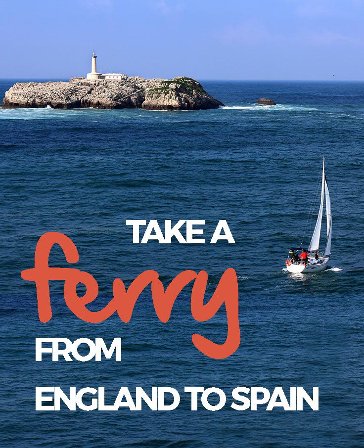 Instead of a cramped plane ride, have an adventure and take a ferry from England to Spain. Brittany Ferries operates ships to Bilbao and Santander in Spain.