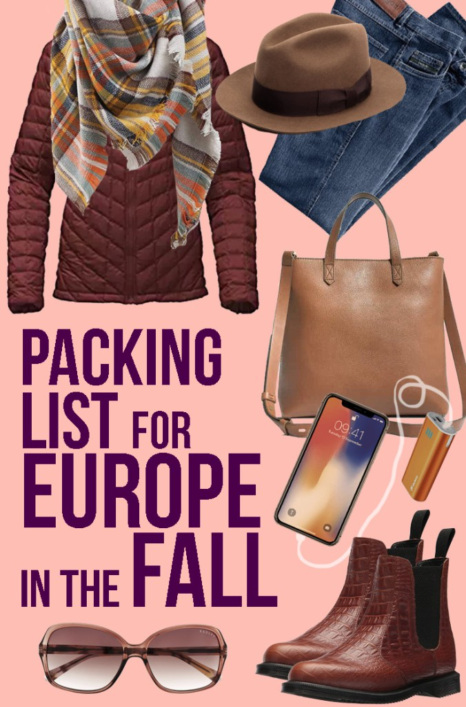 Packing for Europe in Autumn