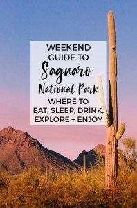 The Weekend Guide to Saguaro National Park : Best things to do and see
