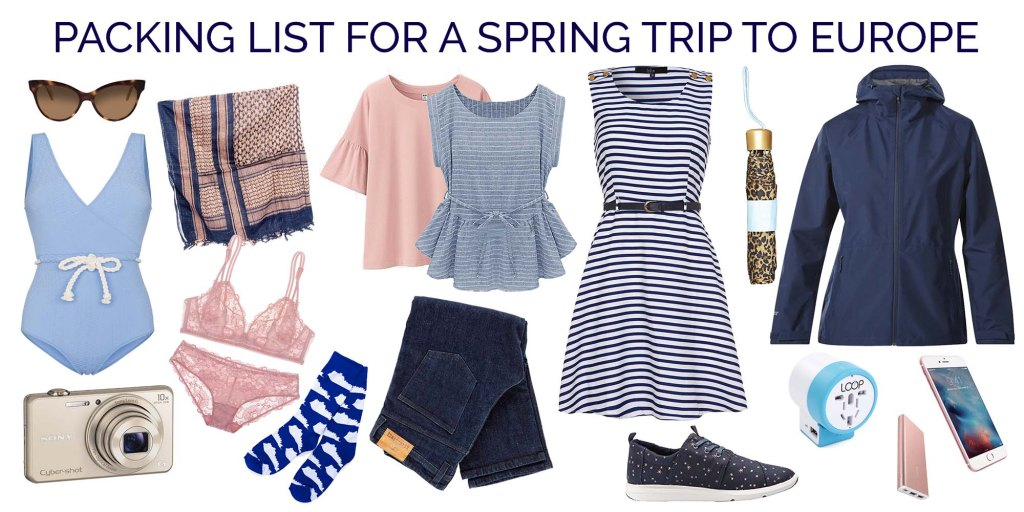 Packing list for a spring trip to Europe