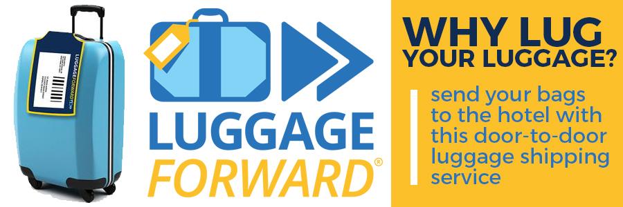 Send your luggage ahead with Luggage Forward