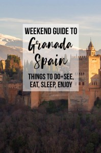 Things to do in Granada Spain - The Weekend Guide to Granada