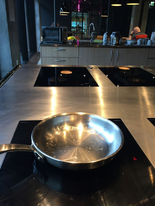 Steel House Hostel Copenhagen Review: shared kitchen