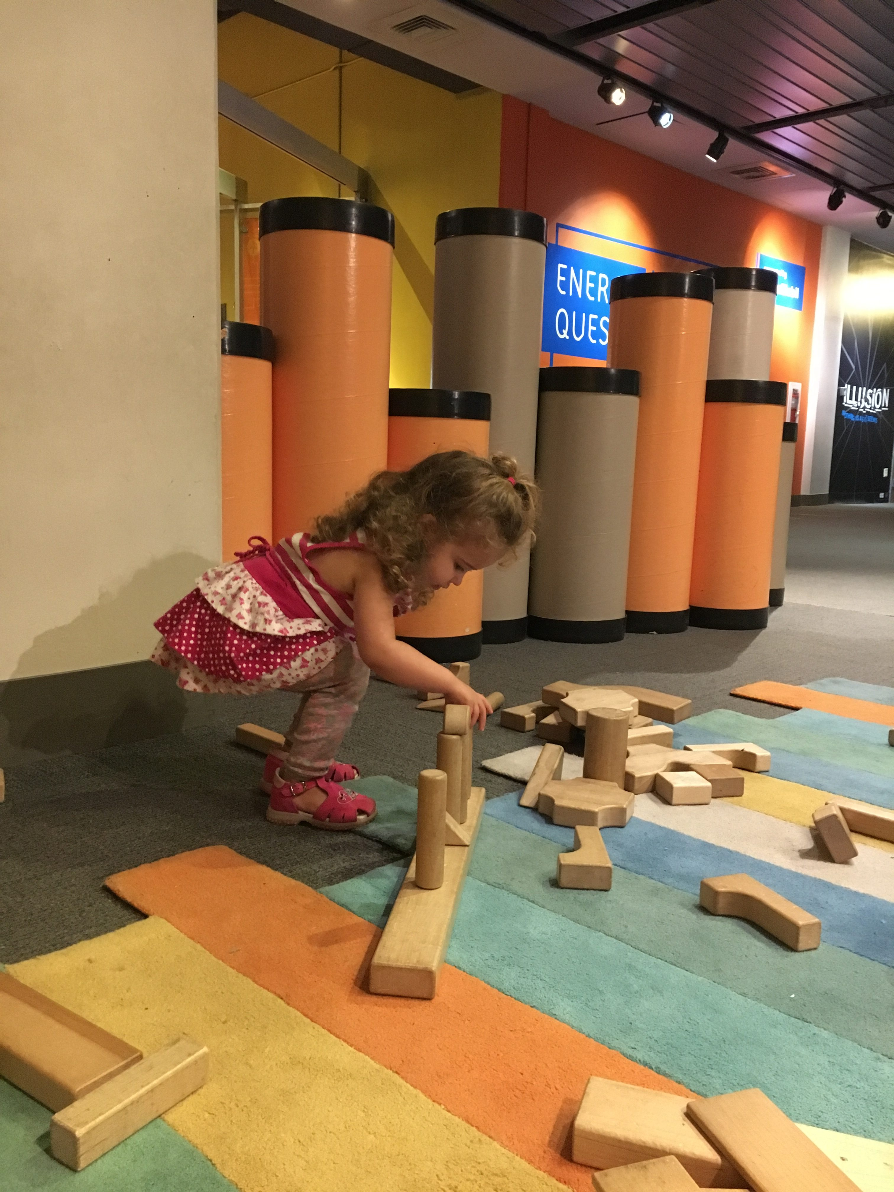 Once Upon a Myth Exhibit at Liberty Science Center: blocks