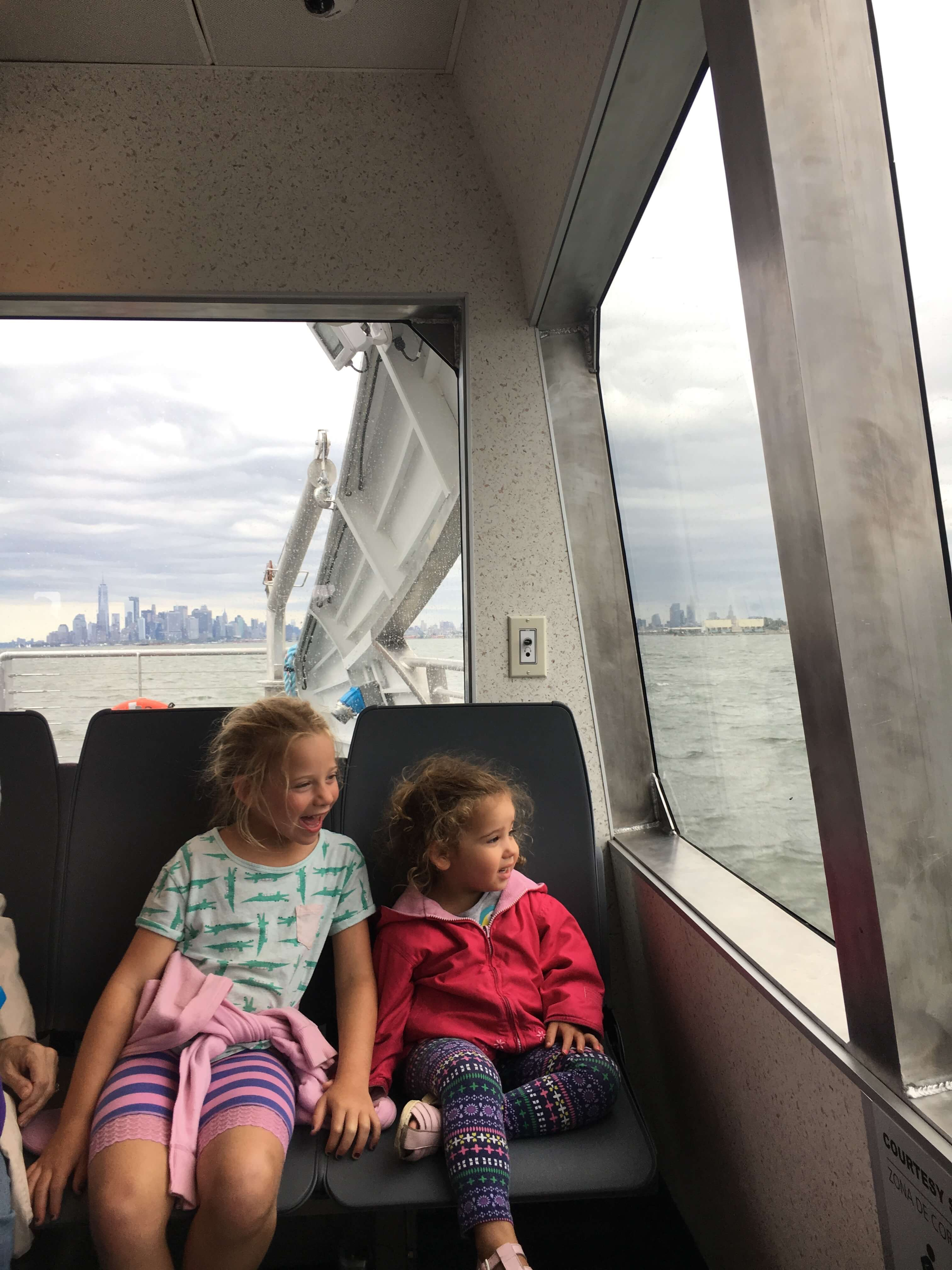 governors island nyc ferry with kids