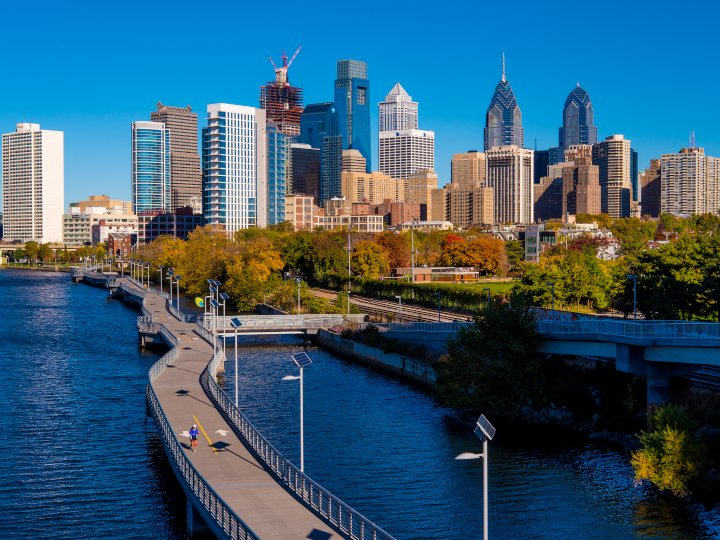 Philadelphia with Kids backdrop of Philly