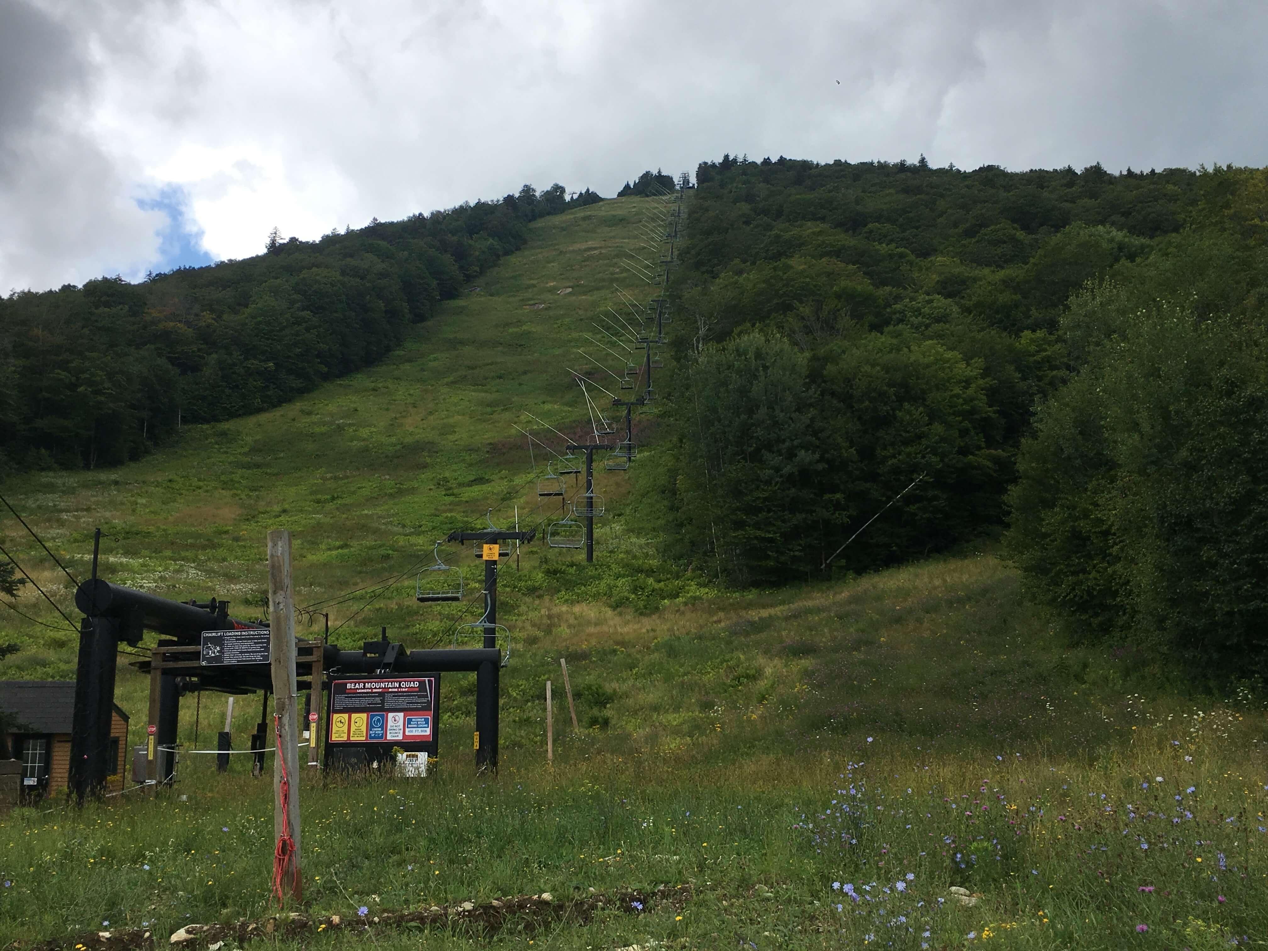 ua mountain running up hill