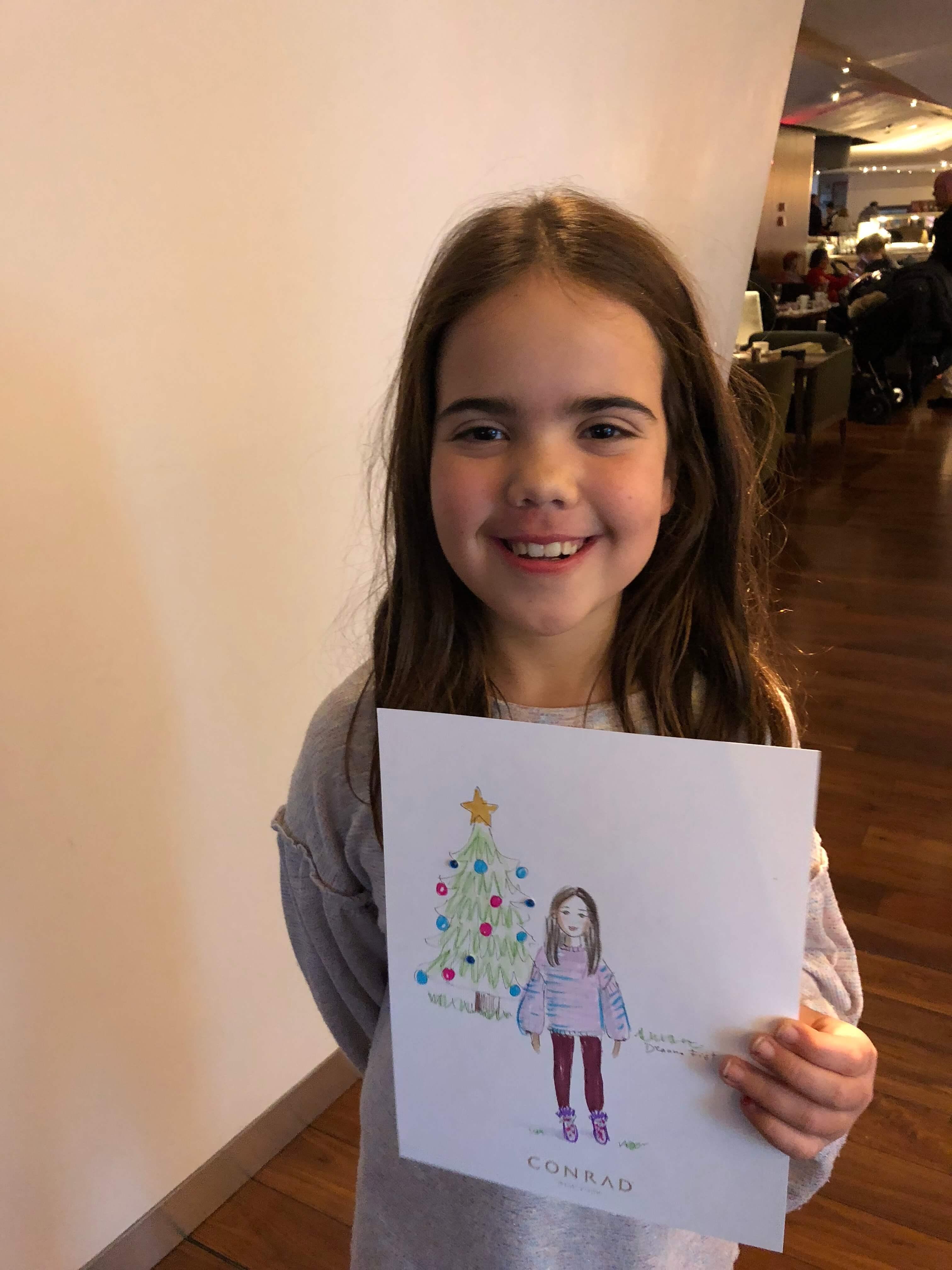 custom illustrations and holiday fun at the conrad new york