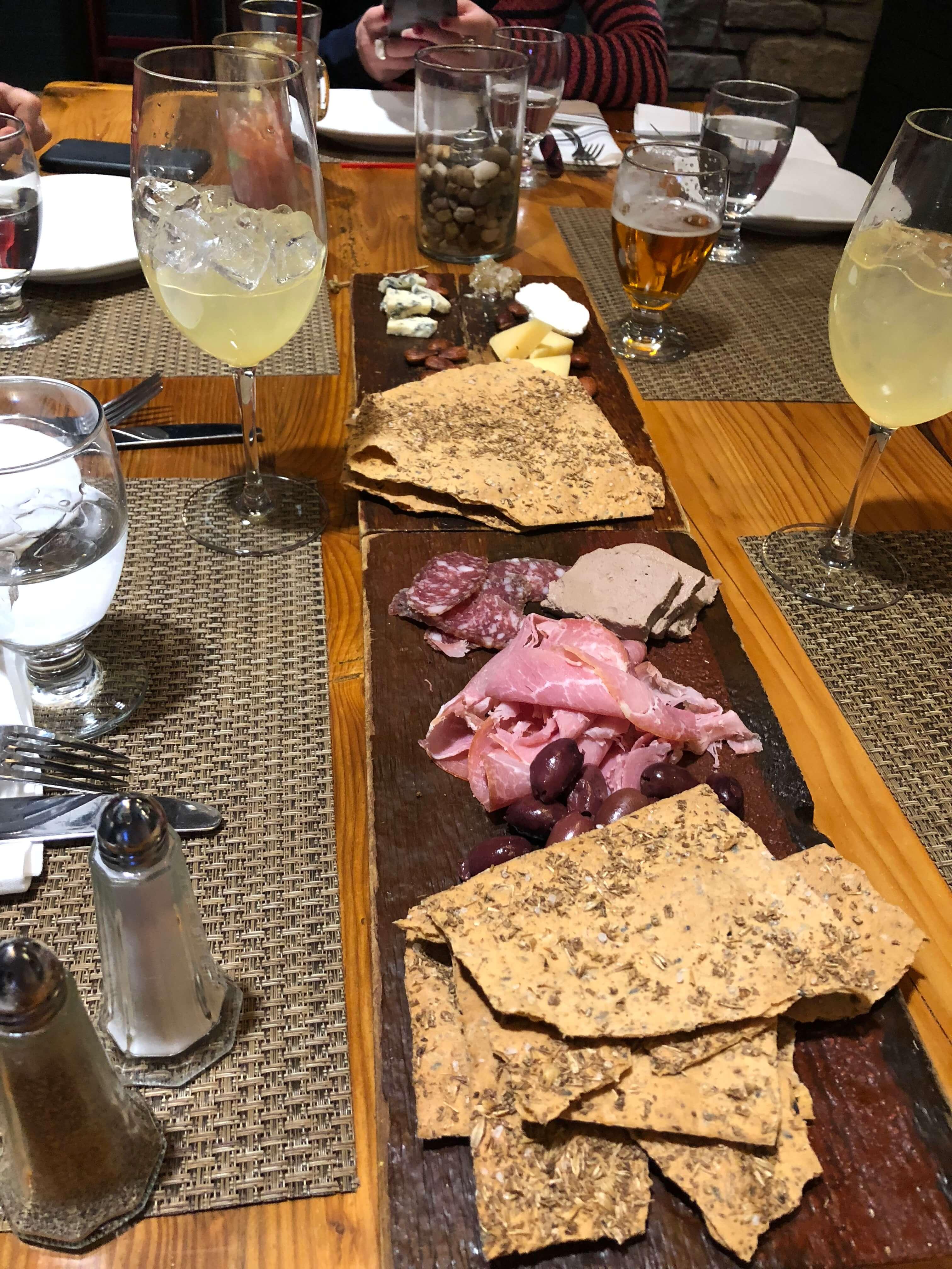 Killington Resort learn to ski program meat platter