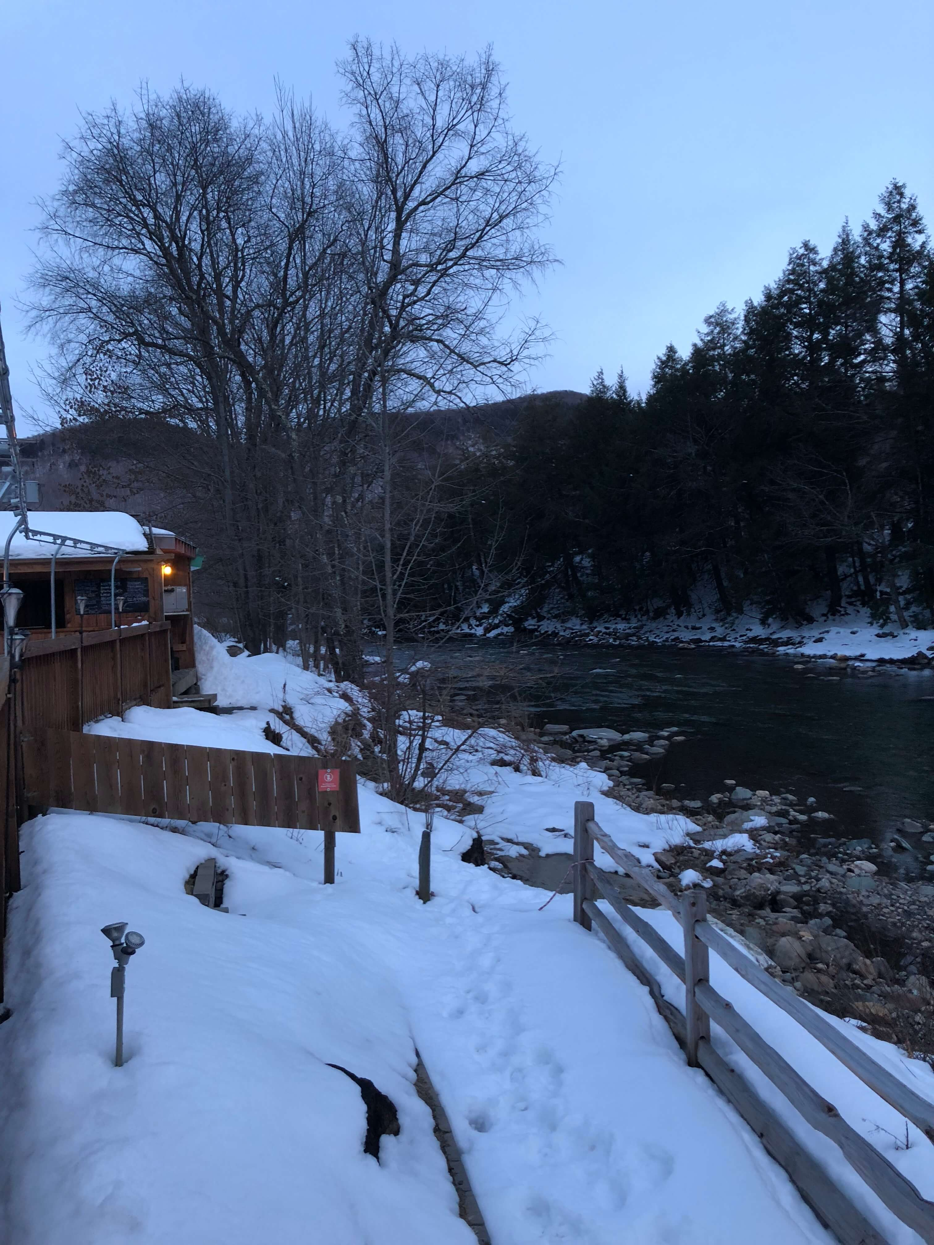 long trail brewery in vermont night